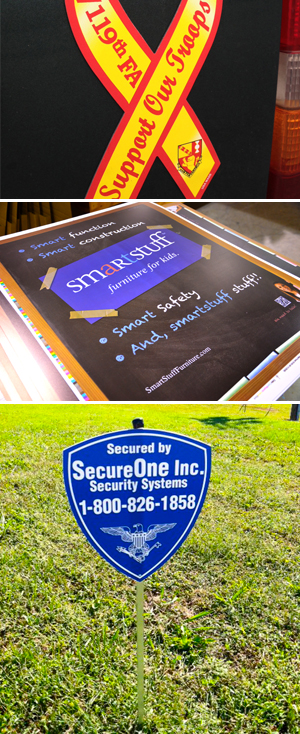 Car Magnets, Posters, Yard Signs