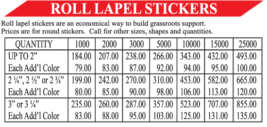Roll Lapel Stickers